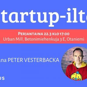 EHDOKASTILAISUUS: Startup-ilta Kimmon ja Peter Vesterbackan kanssa