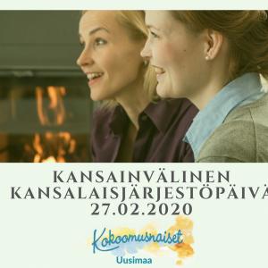 Kansainvälinen kansalaisjärjestöpäivä 27.2.2020